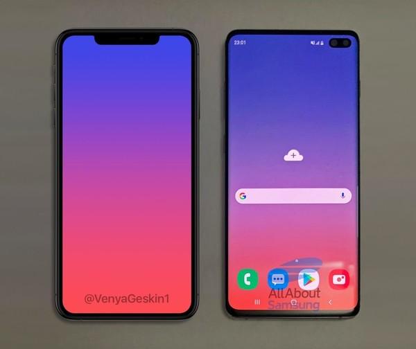 那么,现在有一款iphone xs max和一款三星s10+摆在你面前,刘海屏与挖图片